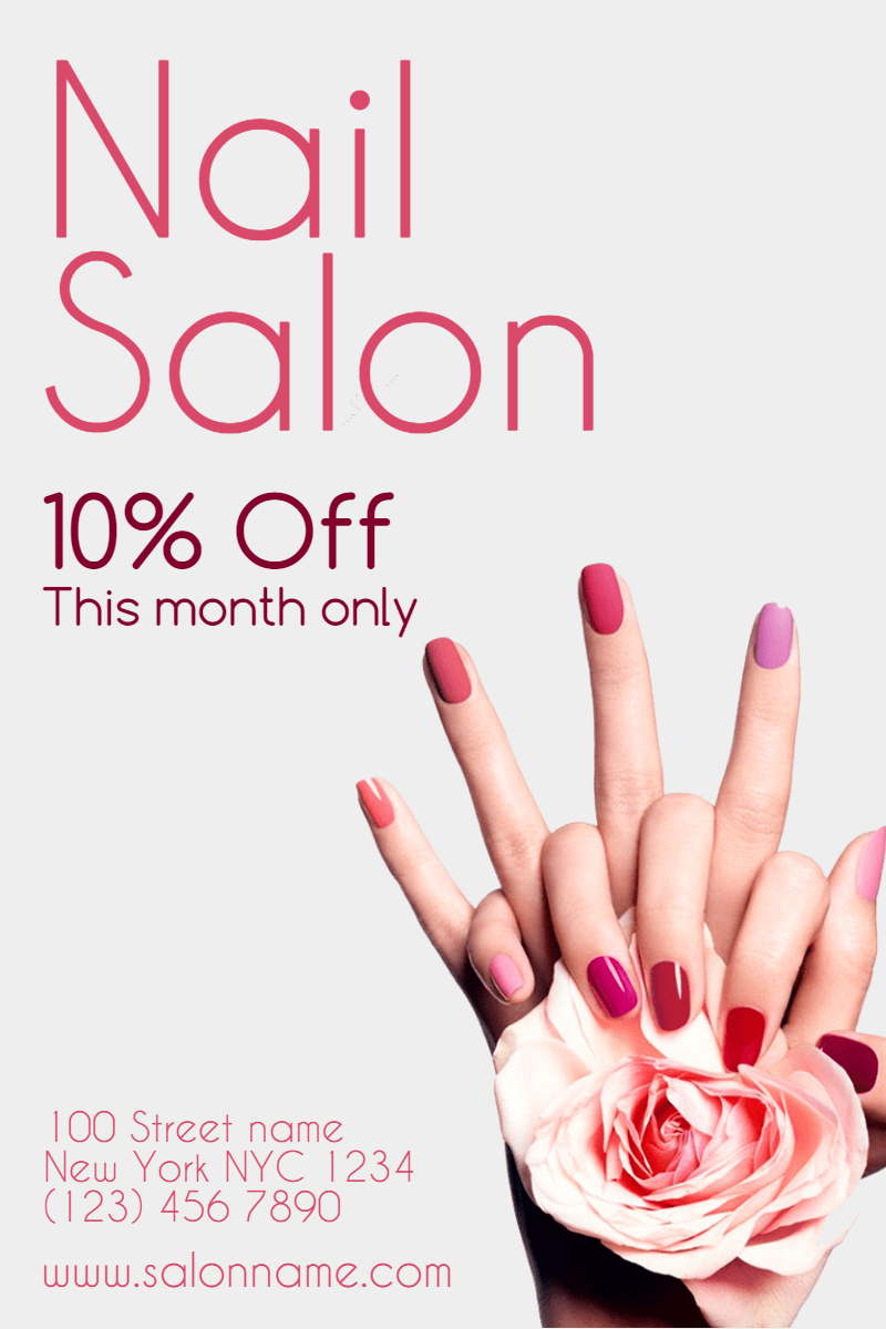 Beauty Quotes For Nails Salon Business Card Nail Salon Beauty Quote A4 A3 Wall Art Poster Print Dogtrainingobedienceschool Com