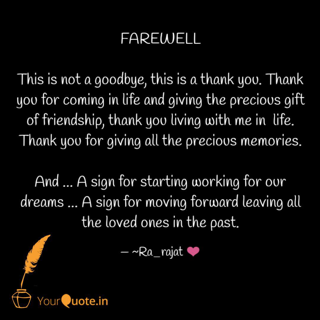 And goodbye you quotes thank 22 Best