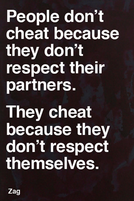 And cheaters status about liars Report A