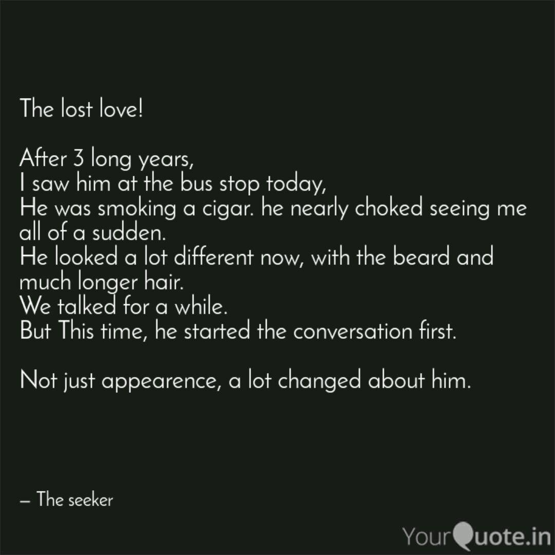 Lost first love quotes
